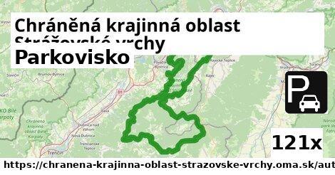 parkovisko v Chráněná krajinná oblast Strážovské vrchy
