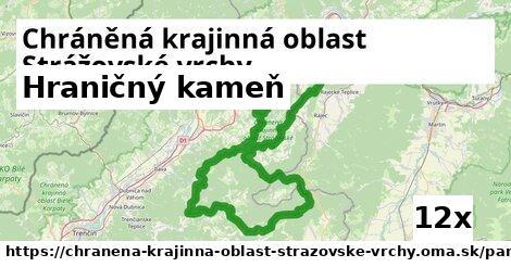 hraničný kameň v Chráněná krajinná oblast Strážovské vrchy