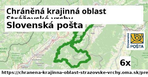 Slovenská pošta v Chráněná krajinná oblast Strážovské vrchy