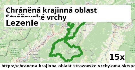 lezenie v Chráněná krajinná oblast Strážovské vrchy
