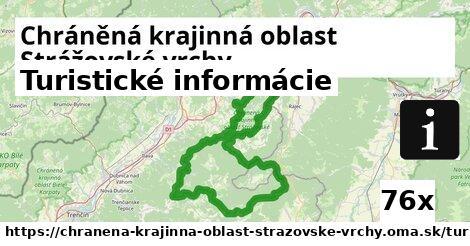 turistické informácie v Chráněná krajinná oblast Strážovské vrchy