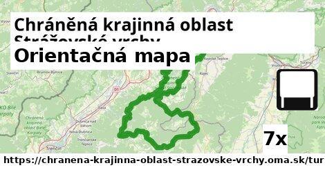 orientačná mapa v Chráněná krajinná oblast Strážovské vrchy