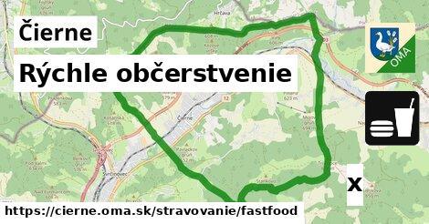 rýchle občerstvenie v Čierne