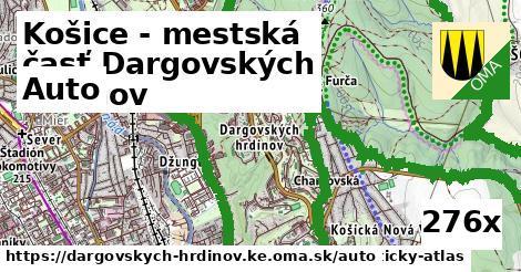 auto v Košice - mestská časť Dargovských hrdinov