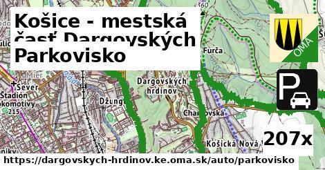 parkovisko v Košice - mestská časť Dargovských hrdinov