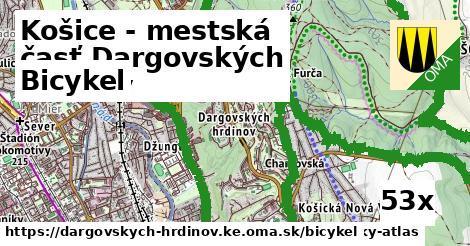 bicykel v Košice - mestská časť Dargovských hrdinov