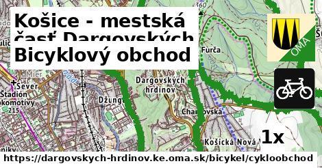 bicyklový obchod v Košice - mestská časť Dargovských hrdinov