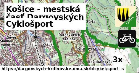 cyklošport v Košice - mestská časť Dargovských hrdinov