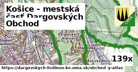obchod v Košice - mestská časť Dargovských hrdinov