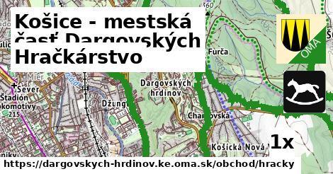 hračkárstvo v Košice - mestská časť Dargovských hrdinov