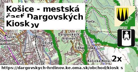 kiosk v Košice - mestská časť Dargovských hrdinov