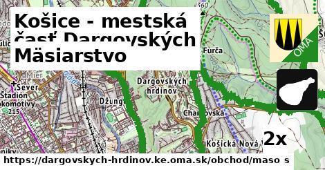 mäsiarstvo v Košice - mestská časť Dargovských hrdinov