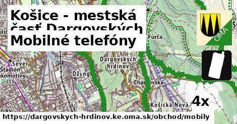 mobilné telefóny v Košice - mestská časť Dargovských hrdinov