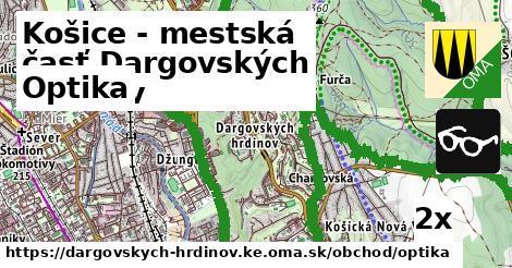optika v Košice - mestská časť Dargovských hrdinov