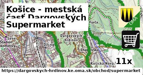 supermarket v Košice - mestská časť Dargovských hrdinov