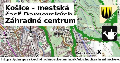 záhradné centrum v Košice - mestská časť Dargovských hrdinov