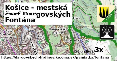 fontána v Košice - mestská časť Dargovských hrdinov
