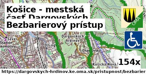 bezbarierový prístup v Košice - mestská časť Dargovských hrdinov