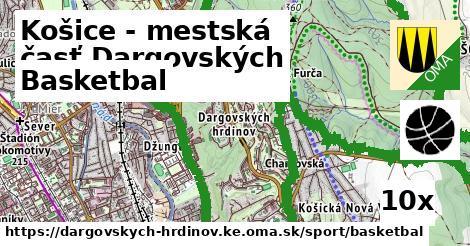 basketbal v Košice - mestská časť Dargovských hrdinov