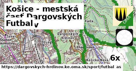 futbal v Košice - mestská časť Dargovských hrdinov