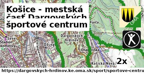 športové centrum v Košice - mestská časť Dargovských hrdinov