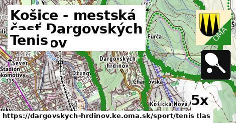 tenis v Košice - mestská časť Dargovských hrdinov