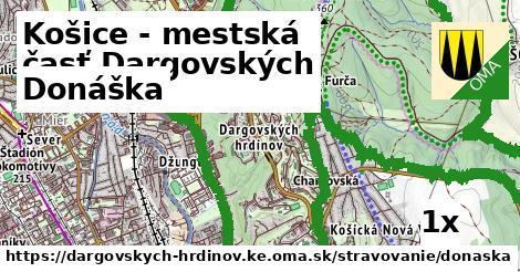 donáška v Košice - mestská časť Dargovských hrdinov