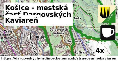kaviareň v Košice - mestská časť Dargovských hrdinov