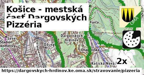 pizzéria v Košice - mestská časť Dargovských hrdinov