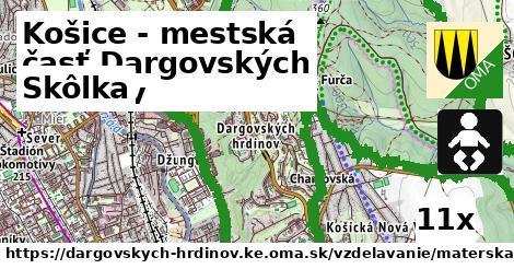 skôlka v Košice - mestská časť Dargovských hrdinov