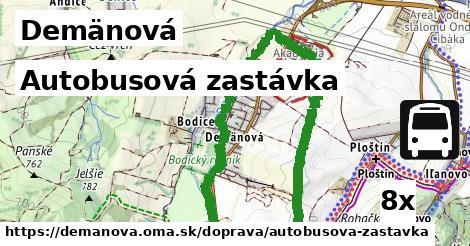 autobusová zastávka v Demänová