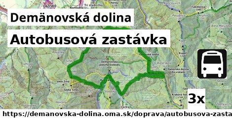 autobusová zastávka v Demänovská dolina