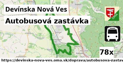 autobusová zastávka v Devínska Nová Ves