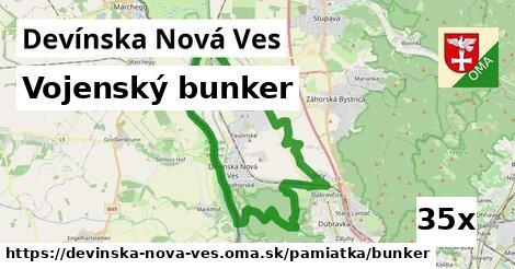 vojenský bunker v Devínska Nová Ves