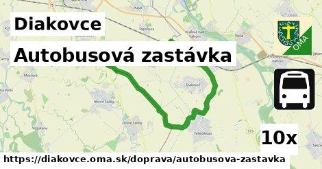 autobusová zastávka v Diakovce