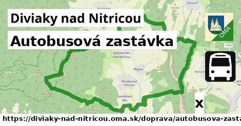 ilustračný obrázok k Autobusová zastávka, Diviaky nad Nitricou