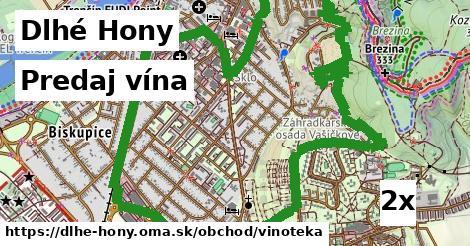 predaj vína v Dlhé Hony
