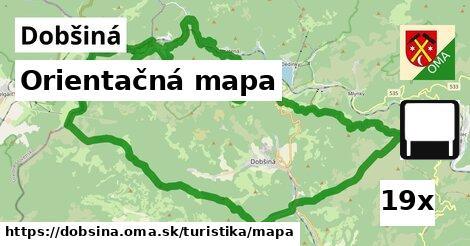 orientačná mapa v Dobšiná