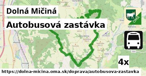 ilustračný obrázok k Autobusová zastávka, Dolná Mičiná