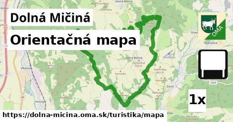 ilustračný obrázok k Orientačná mapa, Dolná Mičiná