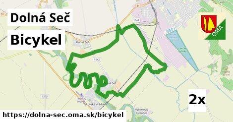 bicykel v Dolná Seč