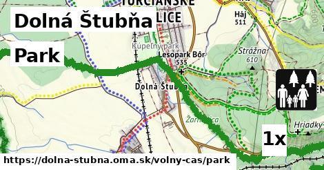 park v Dolná Štubňa