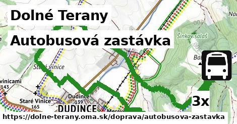 autobusová zastávka v Dolné Terany