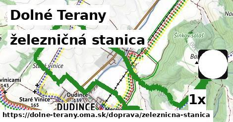 železničná stanica v Dolné Terany