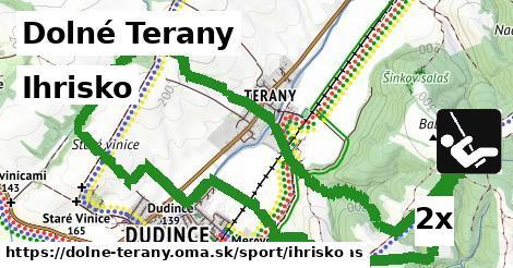ihrisko v Dolné Terany