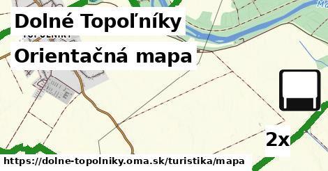 orientačná mapa v Dolné Topoľníky