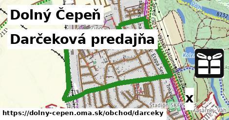 darčeková predajňa v Dolný Čepeň