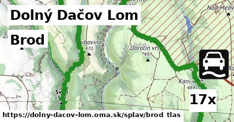 brod v Dolný Dačov Lom