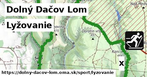 lyžovanie v Dolný Dačov Lom