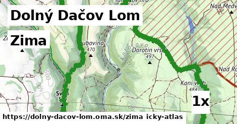 zima v Dolný Dačov Lom